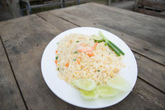 Shrimp fried rice. Part of a series of nine Asian food dishes Royalty Free Stock Images