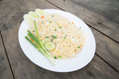 Shrimp fried rice. Part of a series of nine Asian food dishes Royalty Free Stock Image