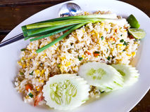 Shrimp Fried Rice. In plate Royalty Free Stock Images
