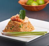 Shrimp Fried Rice Pyramid Stock Photography