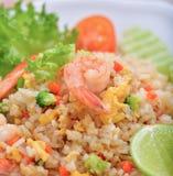 Shrimp fried rice. Thai food Royalty Free Stock Photo