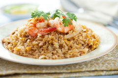 Shrimp fried rice Royalty Free Stock Image