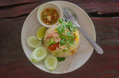 Shrimp fried rice Thai food menu. For lunch Stock Photography