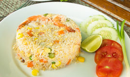 Shrimp Fried Rice, thai food Royalty Free Stock Photo