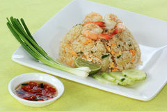 Shrimp Fried Rice Thai Style Royalty Free Stock Photography