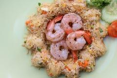 Shrimp fried rice with vegetable. The Shrimp fried rice with vegetable Stock Photos