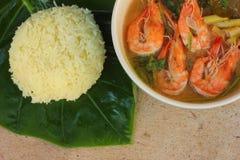 Shrimp Fried Rice vitamin yellow Royalty Free Stock Photo