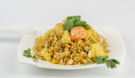 Shrimp Fried Rice. On white background Royalty Free Stock Images