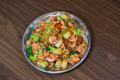 Shrimp fried vermicelli and vegetables. Stock Image