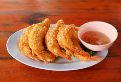 Shrimp Fritter Stock Image