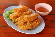 Shrimp Fritter Stock Photo