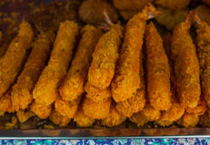 Shrimp Fritter sold in the market. Royalty Free Stock Images