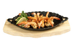 Shrimp grill Stock Image