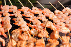Shrimp grill Royalty Free Stock Photos