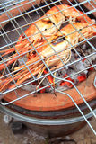Shrimp on the grill Royalty Free Stock Image