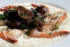 Shrimp and grits Stock Photography