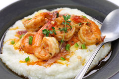 Shrimp and grits Stock Images