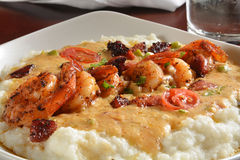 Shrimp and grits Royalty Free Stock Images