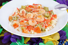 Shrimp Gumbo for Mardi Gras Stock Photography