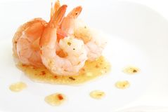 Shrimp With Herbs Stock Image