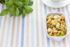 Shrimp and herbs Royalty Free Stock Photography