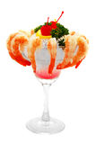 Shrimp On Ice Stock Image