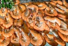 Shrimp on ice Stock Photography