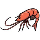 Shrimp Icon Royalty Free Stock Image
