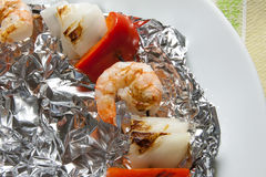 Shrimp Kabob Stock Photo
