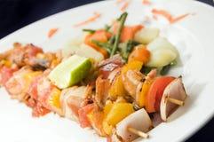 Shrimp kabob Nicaragua style Royalty Free Stock Photo