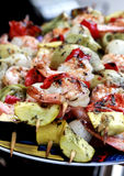 Shrimp Kabobs III Stock Image