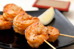 Shrimp Kebab Royalty Free Stock Photography