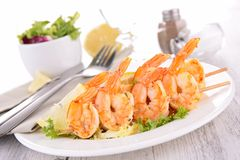 Shrimp kebab Royalty Free Stock Photo