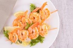 Shrimp kebab Royalty Free Stock Photos