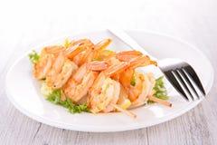 Shrimp kebab Stock Image