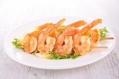 Shrimp kebab Stock Photo