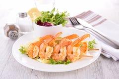 Shrimp kebab Royalty Free Stock Photography