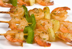 Shrimp kebabs Royalty Free Stock Image
