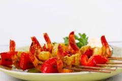 Shrimp Kebabs Stock Image