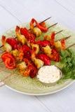 Shrimp Kebabs Stock Photography