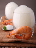 Shrimp and lemon mousse Royalty Free Stock Image