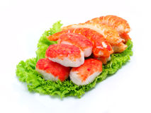 Shrimp and Lettuce Royalty Free Stock Image