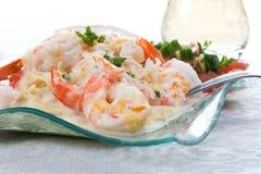 Shrimp Linguine 3 Royalty Free Stock Photography