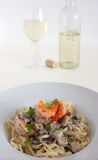 Shrimp linguine Royalty Free Stock Images