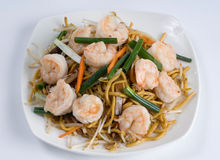 Shrimp lo mein Stock Image