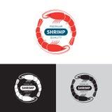 Shrimp logo template. Royalty Free Stock Photos