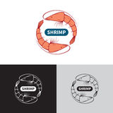 Shrimp logo template Stock Images