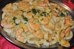 Shrimp and Lula couscous Stock Photo