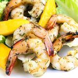 Shrimp and Mango Salad Royalty Free Stock Photos
