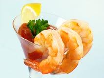Shrimp in a Martini Glass Stock Image